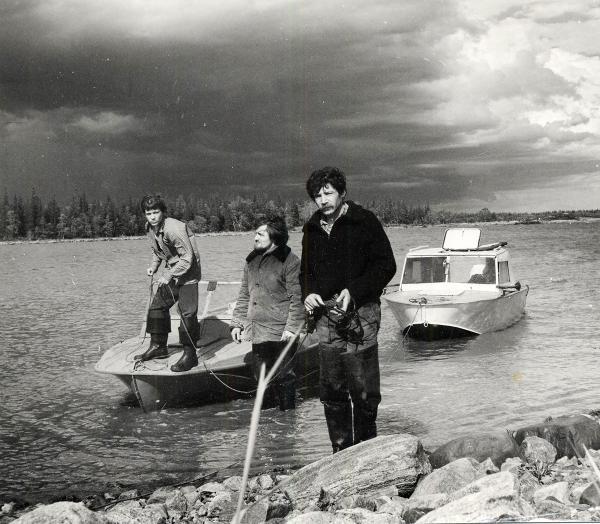 Участники орнитологической экспедиции СГИАПМЗ Е. Быков и Ю. Гендлин. 1990-е годы.