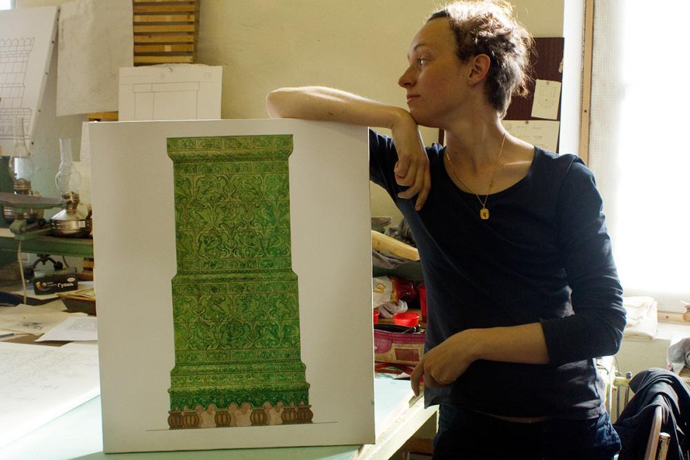 Проект графической реконструкции муравлёной печи с Заяцкого острова. Автор – Афанасьева Оксана
