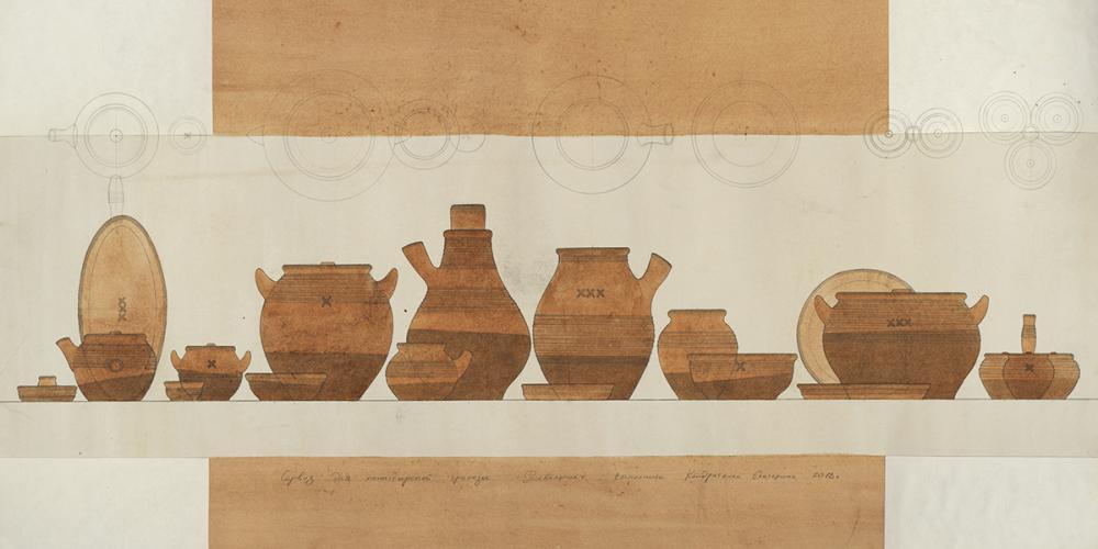 Проект сервиза гончарной посуды «Роговаленок». Автор – Кондратенко Е.