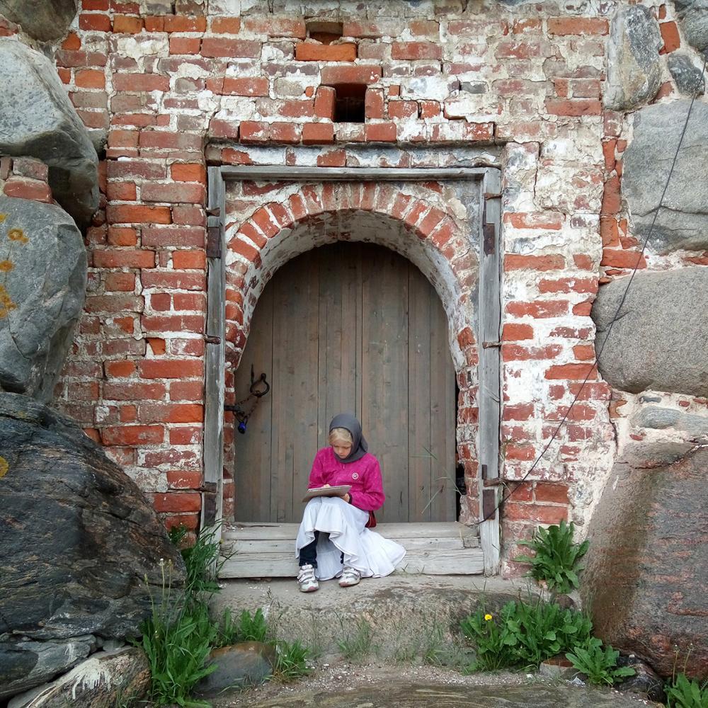 Пленэр в монастыре
