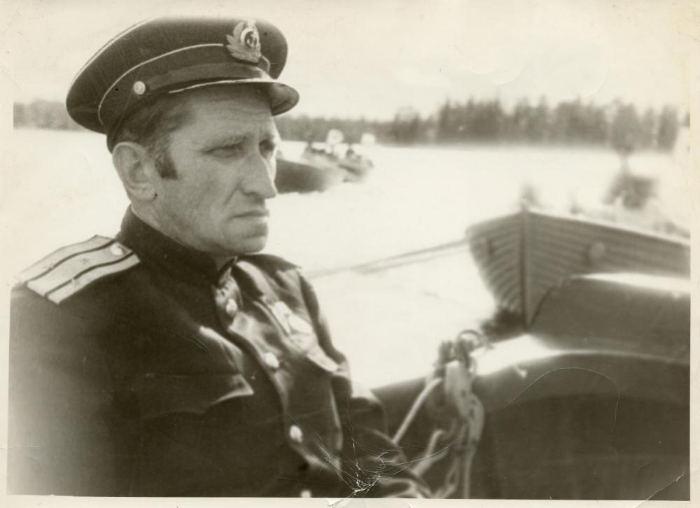 Капитан I ранга Н.Ю. Авраамов -  начальник СШЮ ВМФ в 1943-1944 гг. Соловки, 1944 г.