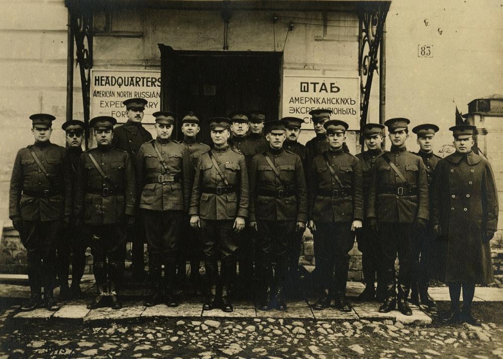 Штаб американских сил в Архангельске