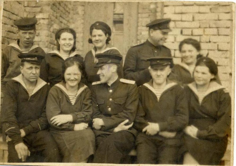 Группа младших командиров 78-го Военно-Морского госпиталя. Соловки, 1943-1945 гг.
