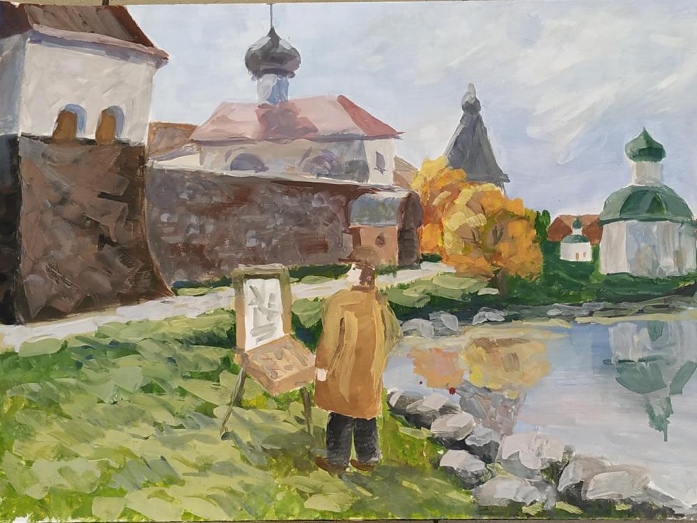 Дарья Филипенкова. Пленэр на Соловках