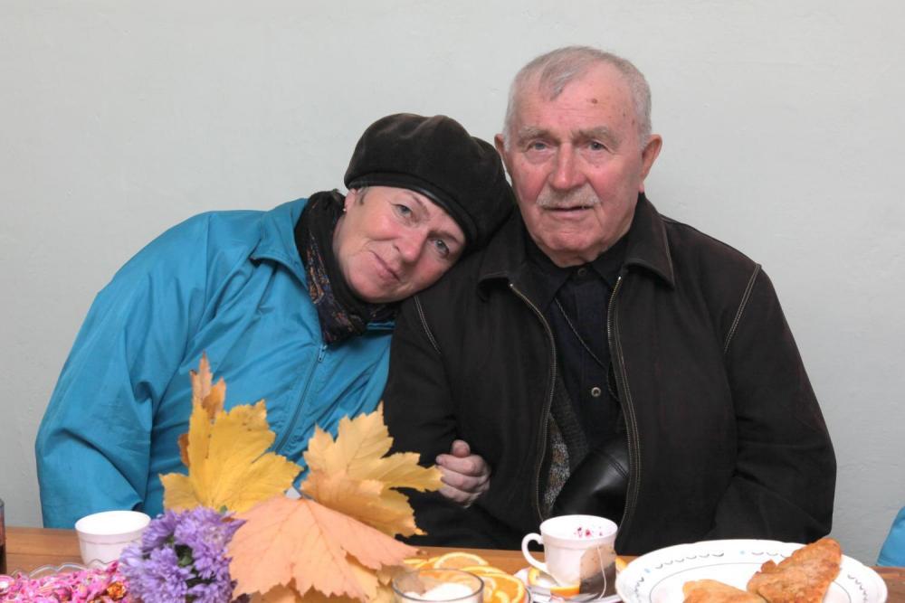 Николай Алексеевич с дочерью.
