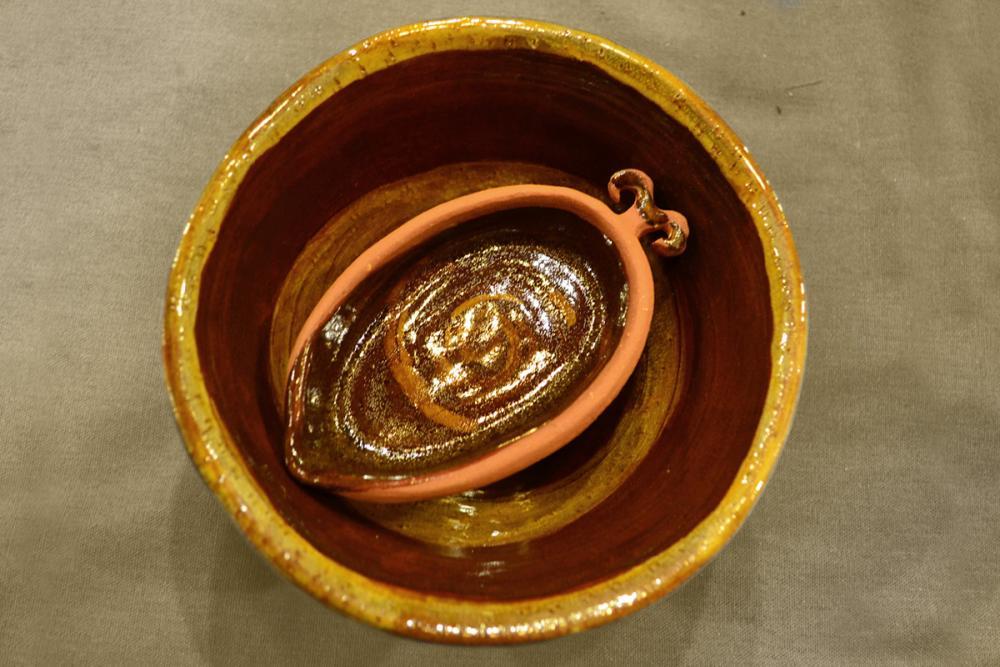 «Рыбак на берегу уху варит». Кринка и ладка, композиция. Глаголева Варвара