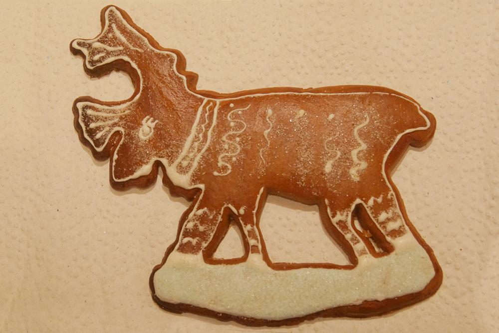 Традиционный пряник «Северный олень»