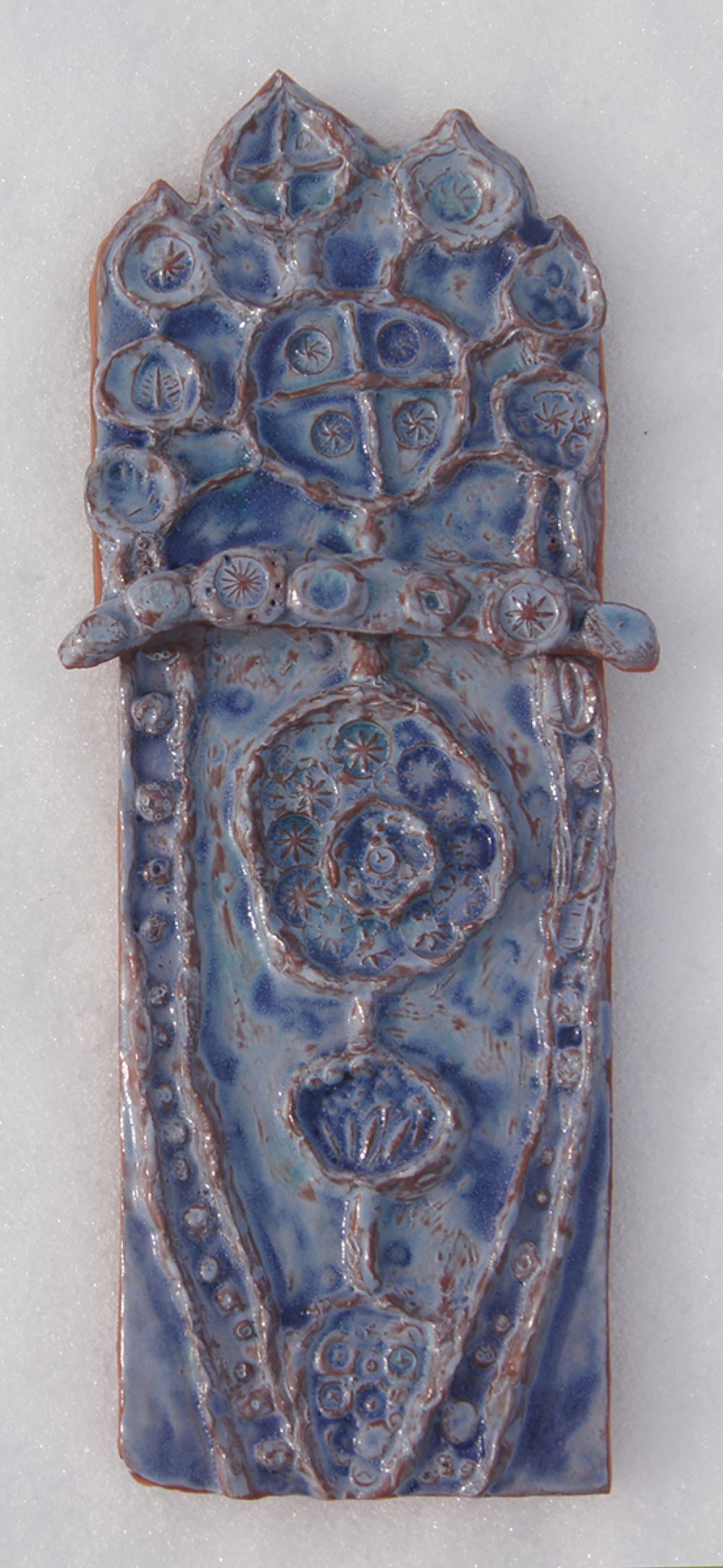 Полихромный керамический рельеф. Автор – Тихонова Даша, 10 лет
