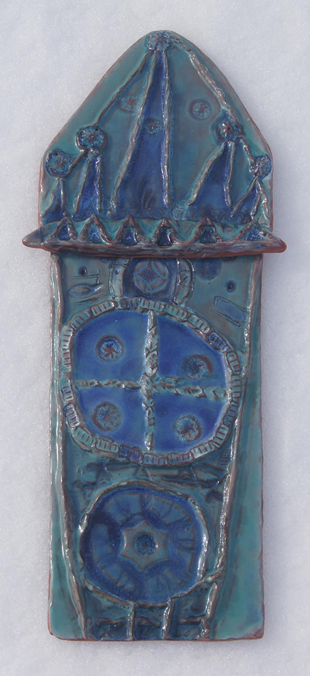 Полихромный керамический рельеф. Автор – Козлов Макар, 8 лет