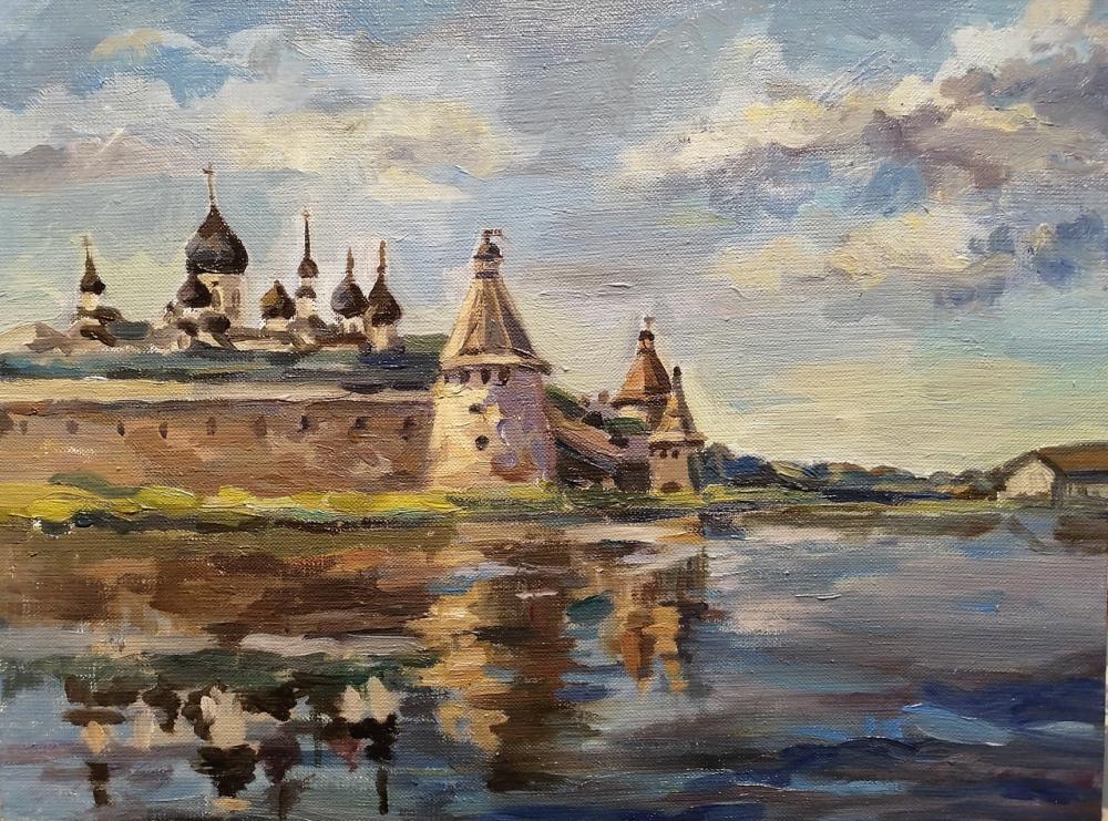 Галахова А.П. Вид на вечерний монастырь со стороны Святого озера