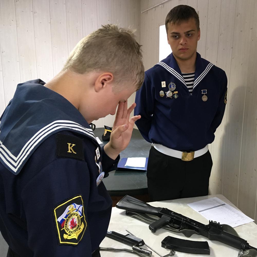Зачёт по разборке/сборке автомата Калашникова
